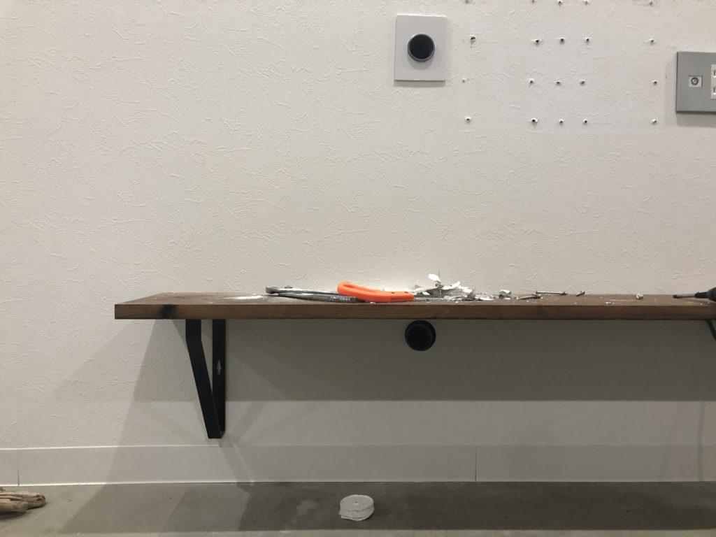 DIY 壁掛けテレビ 配管